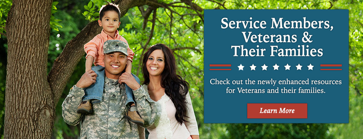 Newly enhanced resources for Veterans and their Families