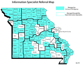 Information Specialist Referral Map