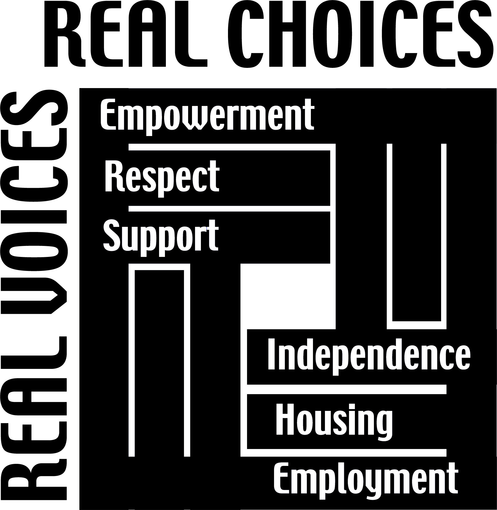 Image of the Real Voices Real Choices Conference Logo