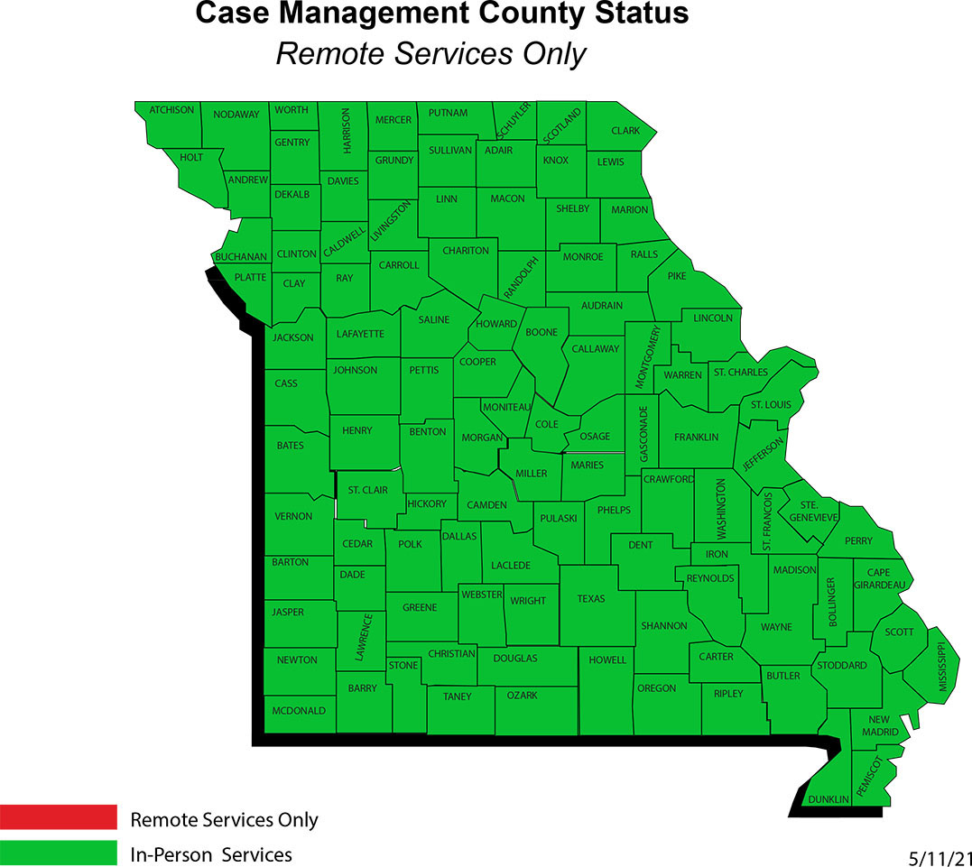 Case Management County Status Map